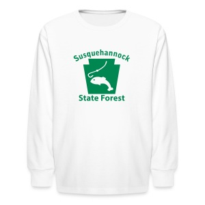 Susquehannock State Forest Keystone Fish - Kids' Long Sleeve T-Shirt