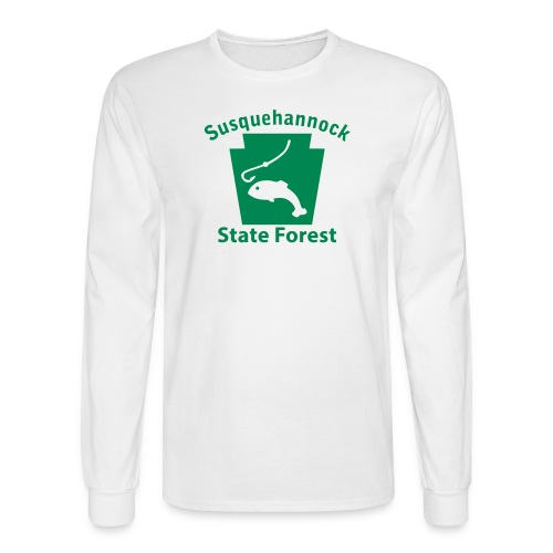 Susquehannock State Forest Keystone Fish - Men's Long Sleeve T-Shirt