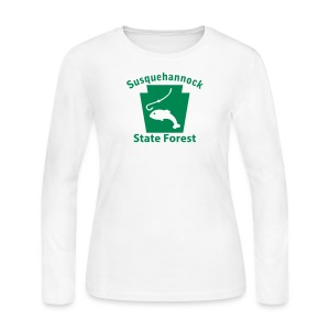 Susquehannock State Forest Keystone Fish - Women's Long Sleeve Jersey T-Shirt