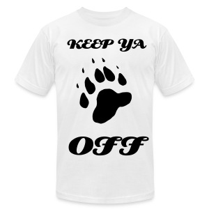 Keep Ya Paws Off - Men's Fine Jersey T-Shirt