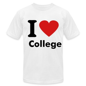 I Love College - Men's Fine Jersey T-Shirt