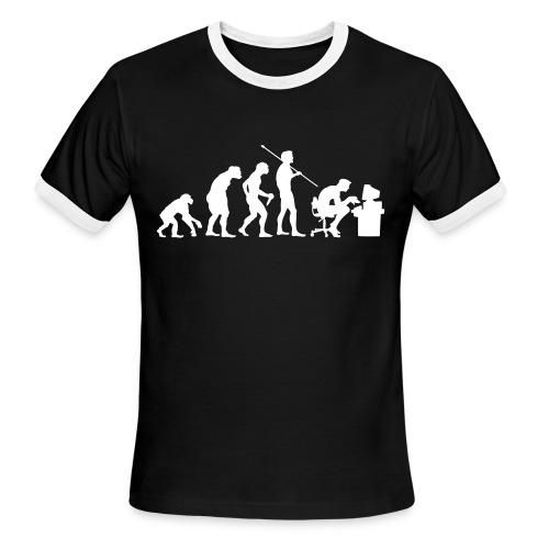 computer geek evolution - Men's Ringer T-Shirt