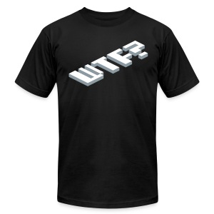 WTF? (silver) - Men's T-Shirt by American Apparel