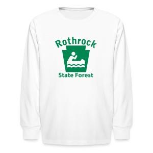 Rothrock State Forest Keystone Boat - Kids' Long Sleeve T-Shirt