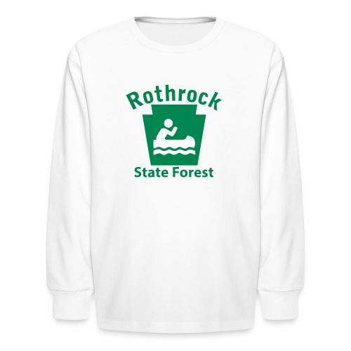 Rothrock State Forest Keystone Boat - Kids' Long Sleeve T-Shirt