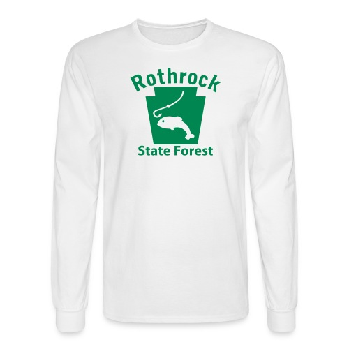 Rothrock State Forest Keystone Fish - Men's Long Sleeve T-Shirt
