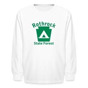 Rothrock State Forest Keystone Camp - Kids' Long Sleeve T-Shirt