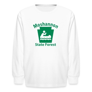Moshannon State Forest Keystone Boat - Kids' Long Sleeve T-Shirt