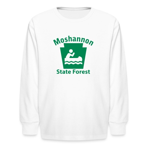 Moshannon State Forest Keystone Boat - Kids' Long Sleeve T-Shirt