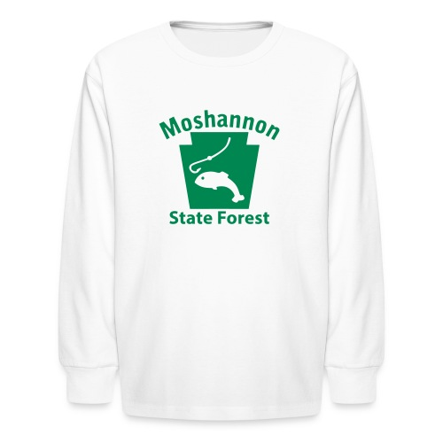 Moshannon State Forest Keystone Fish - Kids' Long Sleeve T-Shirt