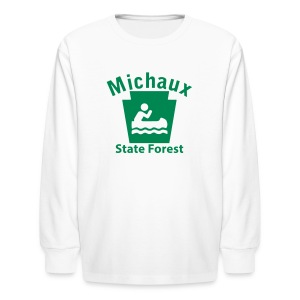 Michaux State Forest Keystone Boat - Kids' Long Sleeve T-Shirt