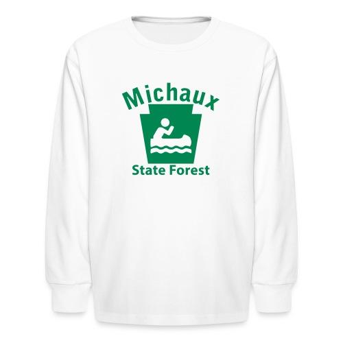 Michaux State Forest Keystone Boat - Kids' Long Sleeve T-Shirt