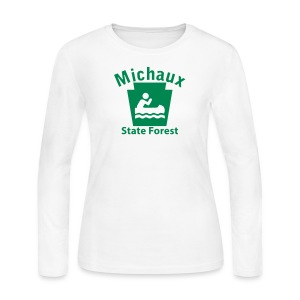 Michaux State Forest Keystone Boat - Women's Long Sleeve Jersey T-Shirt