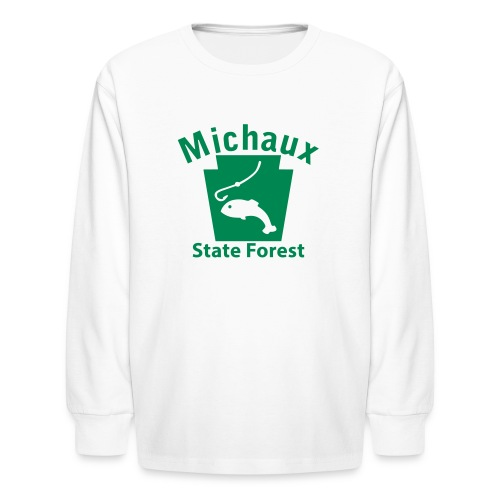 Michaux State Forest Keystone Fish - Kids' Long Sleeve T-Shirt