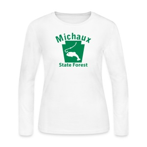 Michaux State Forest Keystone Fish - Women's Long Sleeve Jersey T-Shirt