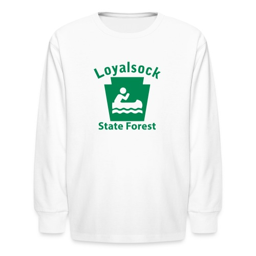 Loyalsock State Forest Keystone Boat - Kids' Long Sleeve T-Shirt