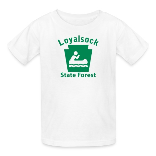 Loyalsock State Forest Keystone Boat - Kids' T-Shirt