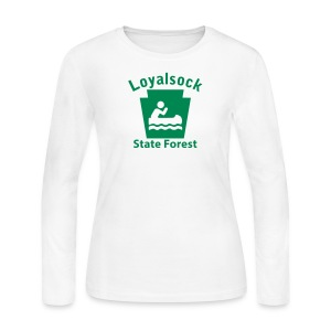 Loyalsock State Forest Keystone Boat - Women's Long Sleeve Jersey T-Shirt