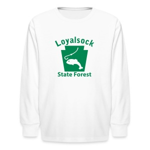 Loyalsock State Forest Keystone Fish - Kids' Long Sleeve T-Shirt