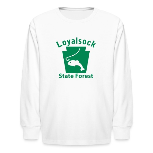 Loyalsock State Forest Keystone Fish - Kids' Long Sleeve T-Shirt