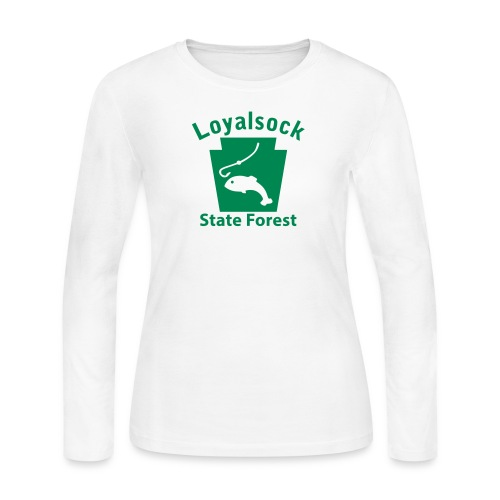 Loyalsock State Forest Keystone Fish - Women's Long Sleeve Jersey T-Shirt