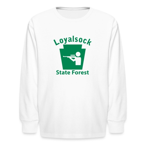 Loyalsock State Forest Keystone Hunt - Kids' Long Sleeve T-Shirt
