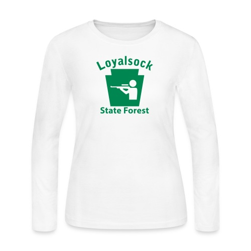 Loyalsock State Forest Keystone Hunt - Women's Long Sleeve Jersey T-Shirt