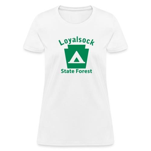 Loyalsock State Forest Keystone Camp - Women's T-Shirt