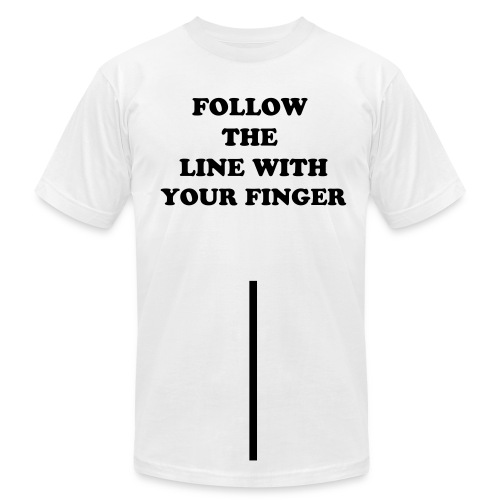 Follow The Line - Men's Fine Jersey T-Shirt