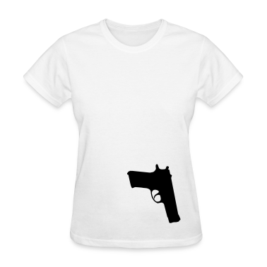 White gun Women's T-Shirts
