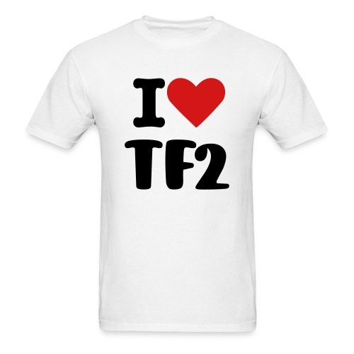 I heart tf2 - Men's T-Shirt