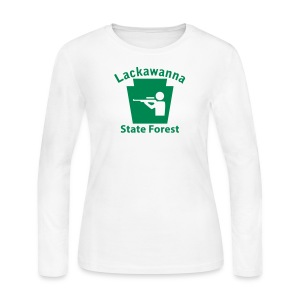 Lackawanna State Forest Keystone Hunt - Women's Long Sleeve Jersey T-Shirt