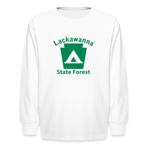 Lackawanna State Forest Keystone Camp - Kids' Long Sleeve T-Shirt