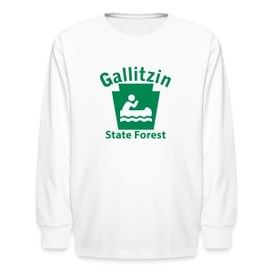 Gallitzin State Forest Keystone Boat - Kids' Long Sleeve T-Shirt