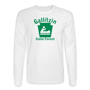 Gallitzin State Forest Keystone Boat - Men's Long Sleeve T-Shirt