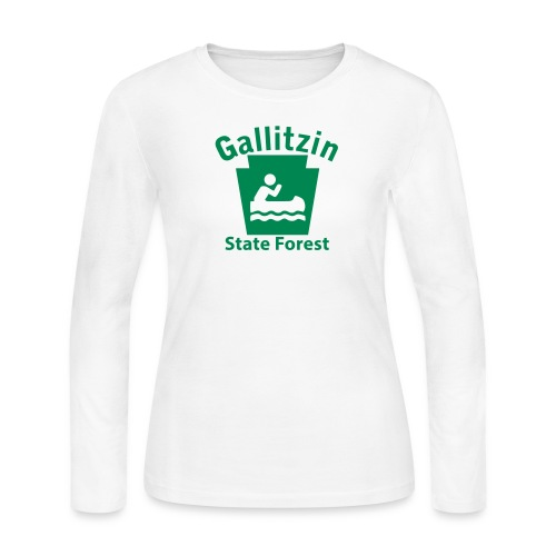 Gallitzin State Forest Keystone Boat - Women's Long Sleeve Jersey T-Shirt