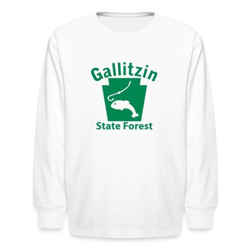 Gallitzin State Forest Keystone Fish - Kids' Long Sleeve T-Shirt