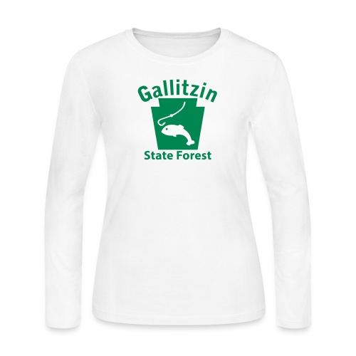 Gallitzin State Forest Keystone Fish - Women's Long Sleeve Jersey T-Shirt