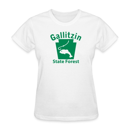 Gallitzin State Forest Keystone Fish - Women's T-Shirt