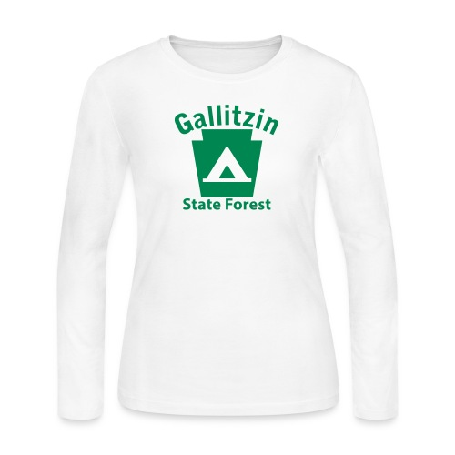 Gallitzin State Forest Keystone Camp - Women's Long Sleeve Jersey T-Shirt