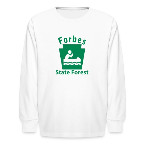 Forbes State Forest Keystone Boat - Kids' Long Sleeve T-Shirt