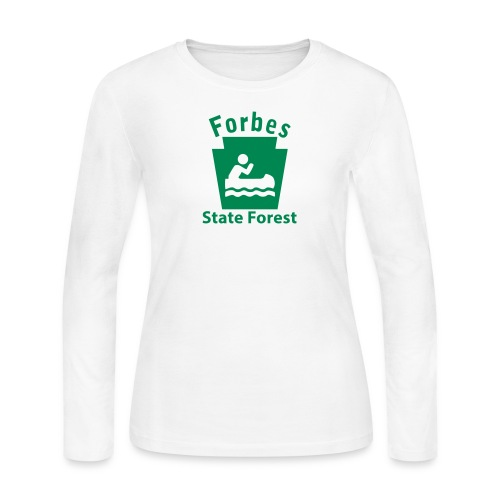 Forbes State Forest Keystone Boat - Women's Long Sleeve Jersey T-Shirt