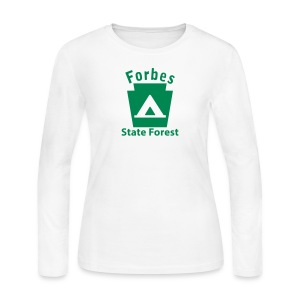 Forbes State Forest Keystone Camp - Women's Long Sleeve Jersey T-Shirt