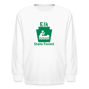 Elk State Forest Keystone Boat - Kids' Long Sleeve T-Shirt