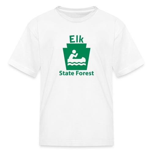 Elk State Forest Keystone Boat - Kids' T-Shirt