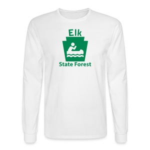 Elk State Forest Keystone Boat - Men's Long Sleeve T-Shirt