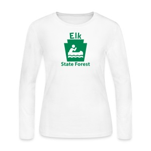 Elk State Forest Keystone Boat - Women's Long Sleeve Jersey T-Shirt