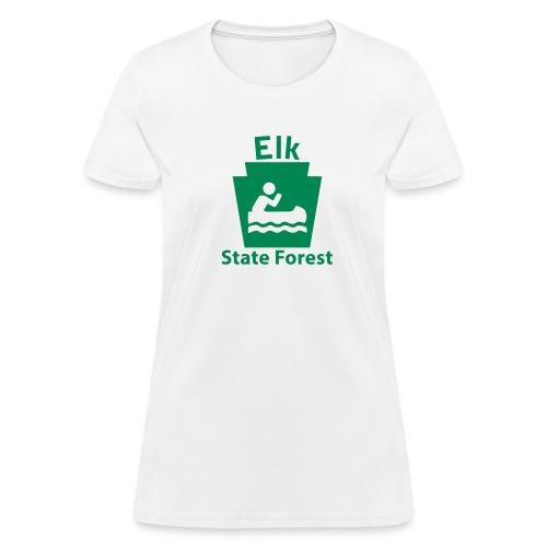 Elk State Forest Keystone Boat - Women's T-Shirt