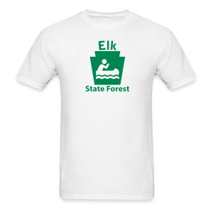 Elk State Forest Keystone Boat - Men's T-Shirt