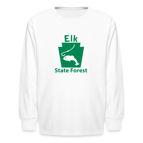 Elk State Forest Keystone Fish - Kids' Long Sleeve T-Shirt